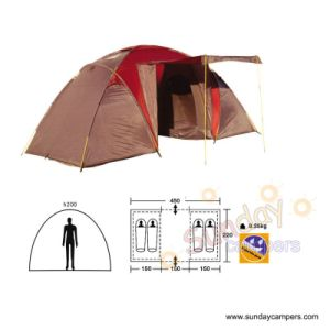4 Person Camping Tent With 2 Rooms (SCC-912) pictures & photos