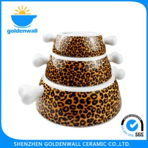 Colorful 250ml / 750ml /1750ml Porcelain Storage Dog Bowl pictures & photos