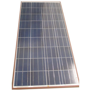 Polycrystalline 120W/12V Solar Panels Factory Direct with Light Brown Frame pictures & photos