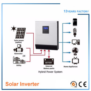 Hybrid off Grid Solar Power Inverter/Converter 10kVA 8kVA 5kVA 4kVA 3kVA 2kVA 1kVA Pure Sine Wave/Solar Charge Controller 60A pictures & photos