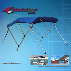 Universal 3 Bow Bimini Tops with Rear Support Poles