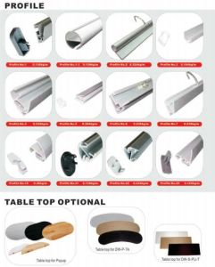 Display Stand Accessories Profile and Table Top pictures & photos