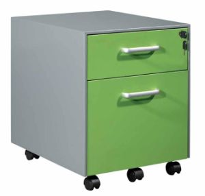 Mobile 2 Drawer Metal File Cabinet with Casters pictures & photos