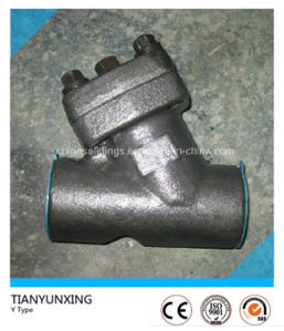 Y Type Female Thread Forged Carbon Steel Strainer Valve pictures & photos