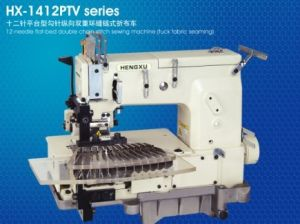 12-Needle Flatbed Double Chainstitch Industrial Sewing Machine (ES-1412PTV)