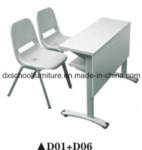 School Double Desk Chair Set for Kid D01+D06 pictures & photos