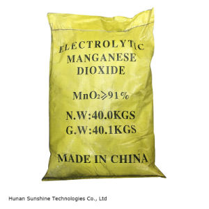 Emd Electrolytic Manganese Dioxide for Zinc Carbon Battery Grade pictures & photos