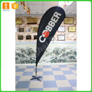 4.0m Height Teardrop Beach Flag Banner with Cross Base pictures & photos