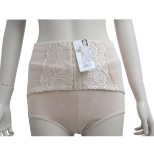 Slimming Lace High Waisted Tummy Hip Trimmer Girdle Knickers Underwear Pants (JM-338)