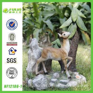 Graphic Scene Wandering Deer Bambi Statue (NF12186-1)