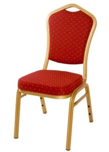 Banquet Dining Chair Cheap and High Quality Golden Frame Steel Molded Foam Stackable Furniture pictures & photos