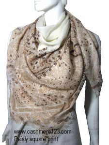 Cashmere Sik Shawl Printed Suqare pictures & photos