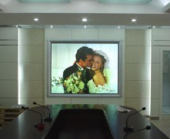 "100"" Microstructured Optical Rear Projection Screen (Fresnel lens)"