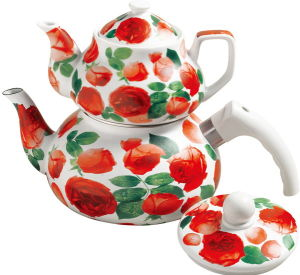 Enamel And Porcelain Tea Pot Set (HWT90068-O)