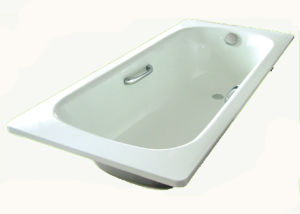 Drop-in Steel Enameled Simple Bathtub pictures & photos