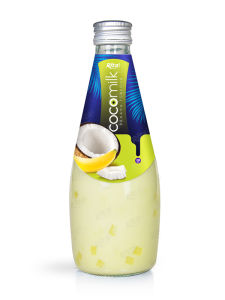 Coconut Milk with Banana Flavor 290ml Glass Bottle pictures & photos