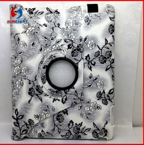 360 Degree Rotate Stand Tablet Case Smart Cover Leather Case for iPad pictures & photos