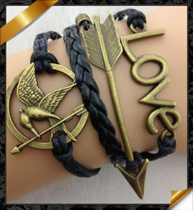 New Product, Wholesale Bracelet Vners, Rows Leather Bracelet, Charms Leather Bracelet (FB053)