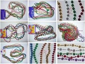 Mardi Gras Beads Necklace (ASB-MGB-PGG)