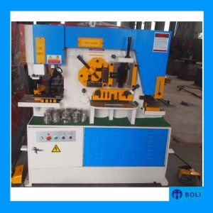 Iw Series Hydraulic Iron Worker/Hydraulic Conbined Punching and Shearing Machine with Notching /Angle Cutting Machine pictures & photos