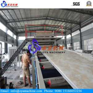 UV Laminated Faux PVC Marble Board Machine/Production Line pictures & photos