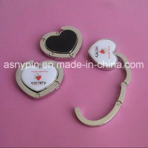 Heart Bag Hanger Hook with Print Logo pictures & photos