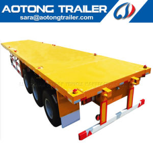 2018 Top Ranking 40FT Flatbed Semi-Trailer/Container Trailer for Sale pictures & photos