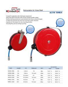 Mini Retractable Air Hose Reel 8X12mm 5m PU Hose