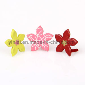 Metal Orchid Shaped Brads (YL-A092)