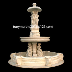 Statue Beige Marble Fountain for Garden Decoration (SY-F010) pictures & photos