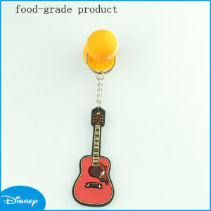 Cute Violin Shaped PVC Keychain