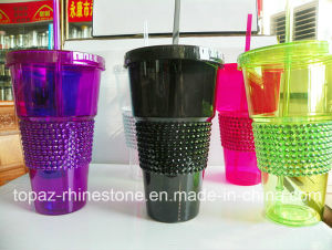 Custom Stickers Adhesive Acrylic Rhinestone Stickers for Plastic Cup (TS-114) pictures & photos