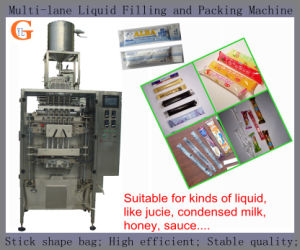 Multi-Lane Stick-Shape Honey/Sauce Filling and Packing Machine pictures & photos