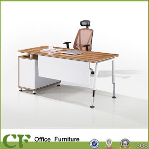 Steel Legs Executive Desk with Fixed Cabinet pictures & photos
