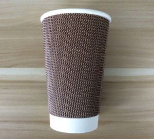 Ripple Wall Disposable PE Coated Paper Coffee Cups pictures & photos