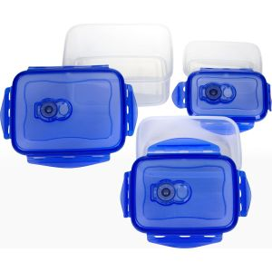 3 in 1 Set Airproof Food Storage Container Locking Lids Food Box, Plastic Meal Storage pictures & photos