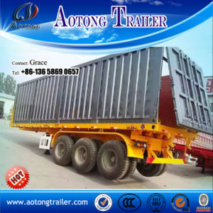 Aotong Container Trailer, Flatbed Semi Trailer for Sale pictures & photos