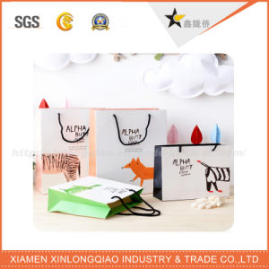 USA High Quality Custom Design Paper Bag with Cotton Handle pictures & photos