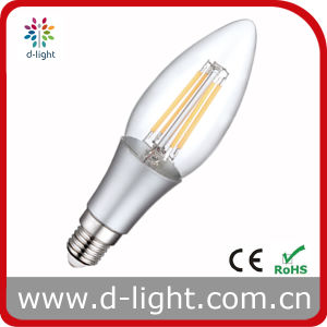 Plastic 4W E14 New Style Filament Candle LED Bulb pictures & photos