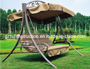 3 Seats Garden Swing Chair with Canopy pictures & photos