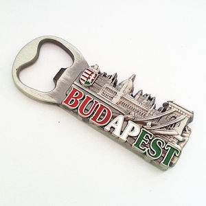 Budapest Premium Promotion Customized Beer Opener with Refrigerato Magnet (F5034)