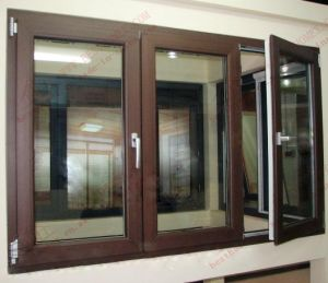 Decent Woodgrain PVC/UPVC Casement Window (BHP-CW22) pictures & photos