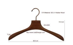 Luxury Rubber Wood Hanger, Women′s Hanger, Cheap Clothes Hanger, Suit Hangers Coat Hanger. pictures & photos
