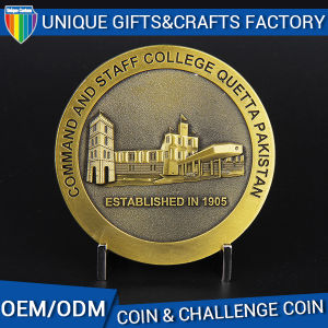 Custom Zinc Alloy Challenge Coin Souvenir Coin with Gold Plated pictures & photos