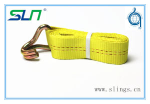 2017 Yellow Winch Straps with Double J Hook pictures & photos