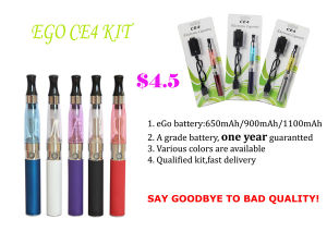 2014 Hot Blister Pack EGO T Electronic Cigarette with 1100mAh Battery