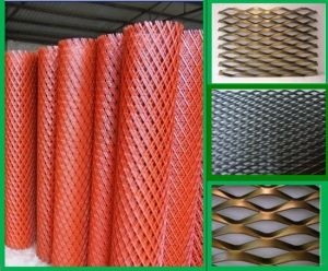 PVC Plastic Coated Expanded Metal Steel Sheet pictures & photos