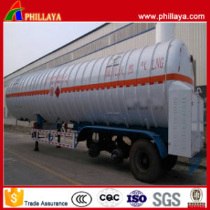 BPW 3 Axles 55.6m3 Cryogenic Liquid LNG Tanker Trailer pictures & photos