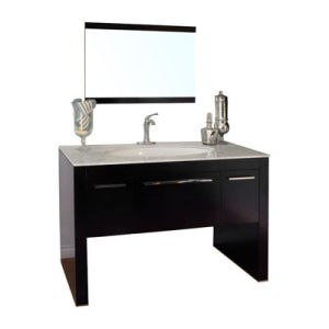 European Style Solid Oak Wood Bathroom Vanity with Most in Design pictures & photos