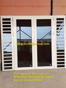 Aluminum Secure Glass Shutter Window with Handles pictures & photos